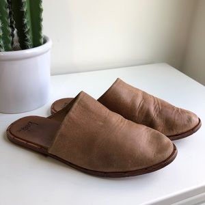 rare BEEK | leather slide mule Anthro free people